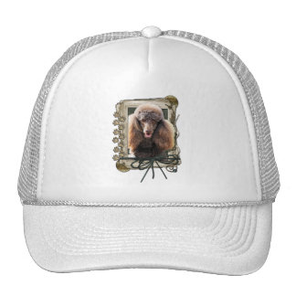 Thank You - Stone Paws - Poodle - Chocolate Trucker Hat