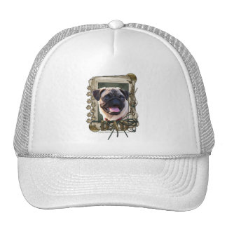 Thank You - Stone Paws - Pug - Dad Trucker Hats