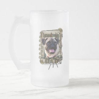 Thank You - Stone Paws - Pug - Dad Coffee Mug