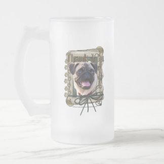 Thank You - Stone Paws - Pug Mugs
