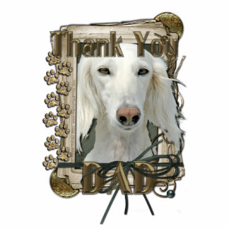 Thank You - Stone Paws - Saluki - Dad Standing Photo Sculpture