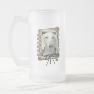 Thank You - Stone Paws - Saluki Frosted Glass Mug