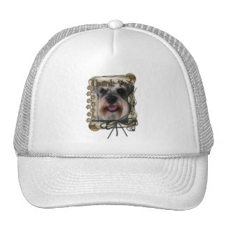 Thank You - Stone Paws - Schnauzer Mesh Hat