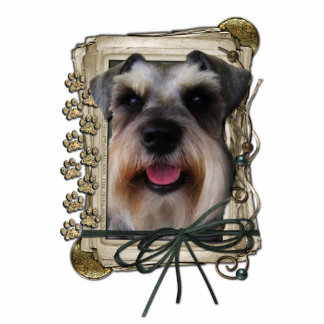 Thank You - Stone Paws - Schnauzer Photo Cut Outs