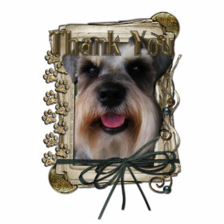 Thank You - Stone Paws - Schnauzer Cut Outs
