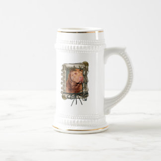 Thank You - Stone Paws - Shar Pei - Lucky Beer Steins