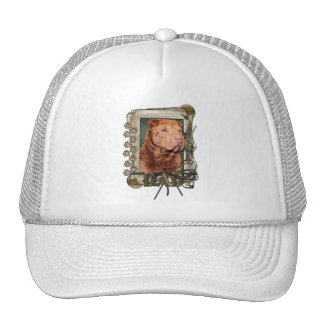Thank You - Stone Paws - Shar Pei - Lucky - Dad Trucker Hats
