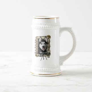 Thank You - Stone Paws - Siberian Husky Beer Steins