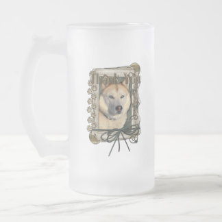 Thank You - Stone Paws - Siberian Husky - Copper Frosted Glass Mug