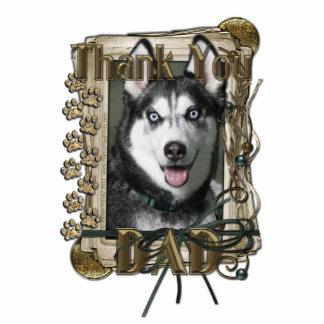 Thank You - Stone Paws - Siberian Husky - Dad Photo Sculptures