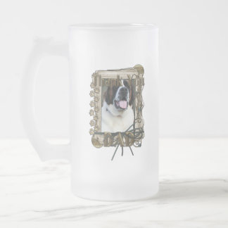 Thank You - Stone Paws - St Bernard - Mae - Dad Frosted Glass Mug