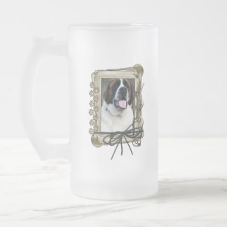 Thank You - Stone Paws - St Bernard - Mae Frosted Glass Mug