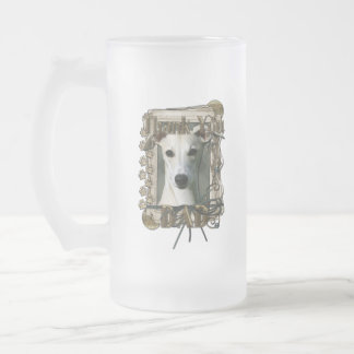 Thank You - Stone Paws - Whippet - Dad 16 Oz Frosted Glass Beer Mug