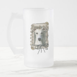 Thank You - Stone Paws - Whippet 16 Oz Frosted Glass Beer Mug