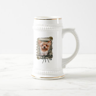 Thank You - Stone Paws - Yorkshire Terrier 18 Oz Beer Stein