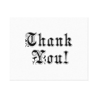 Thank You Stretched Canvas Prints
