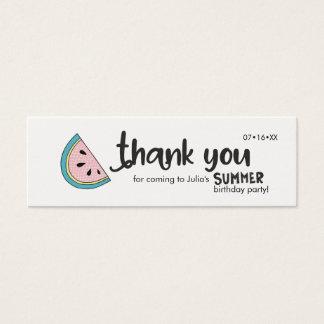 Thank You, Summer Party, Fun Beach theme Mini Business Card