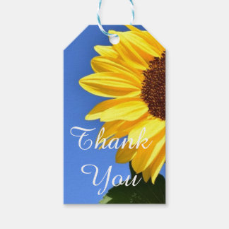 Thank You  Sunflower Gift Tag