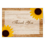 Thank You Sunflower Rustic Barn Wood Bridal Shower