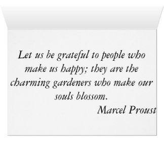 Thank you - Sunset Marcel Proust Greeting Card