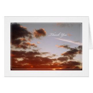 Thank You Sunset Note Card
