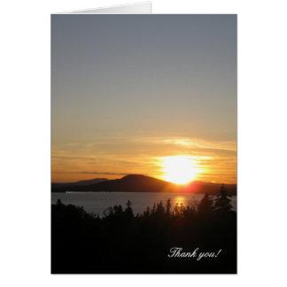 Thank you! Sunset Over Rangeley Lake, Maine, USA. Greeting Card