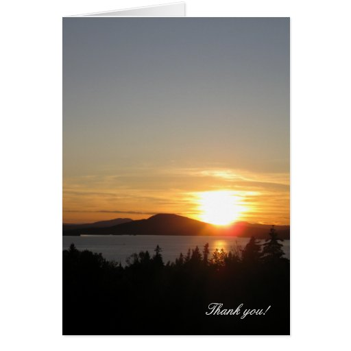 Thank you! Sunset Over Rangeley Lake, Maine, USA. Greeting Card
