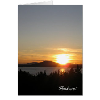 Thank you! Sunset Over Rangeley Lake, Maine, USA. Greeting Cards