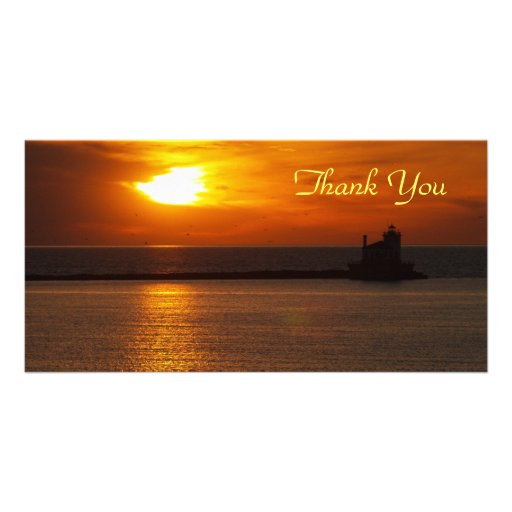 Thank You Sunset Photocard Photo Card Template