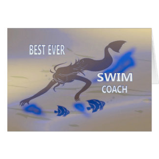 Thank You Swim Coach Card