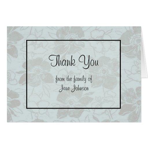 Thank you sympathy card
