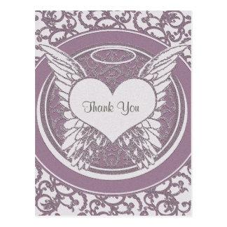 Thank You | Sympathy | Pink Postcard