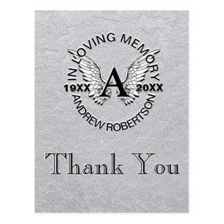 Thank You   Sympathy   Silver Postcard