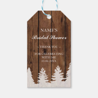 Thank you Tag Favour Wood Trees Xmas Bridal Shower
