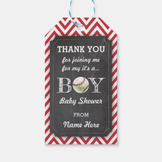Thank you Tags Favour Baseball Boy Baby Shower