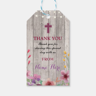 Thank you Tags Favour Floral Holy Cross Religious