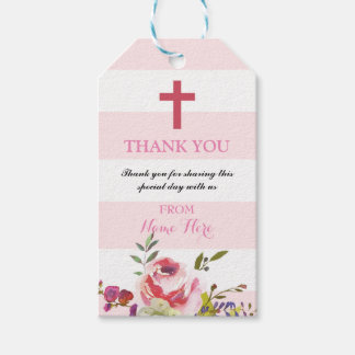 Thank you Tags Favour Floral Religious Wedding