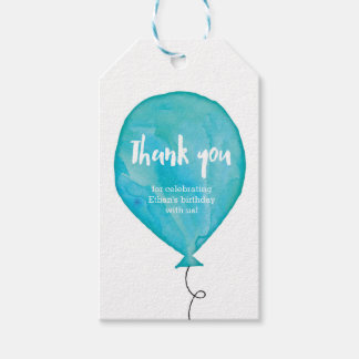 Thank you tags | Favour tags | Blue Balloon