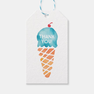 Thank you tags | Favour tags | Blue Ice cream