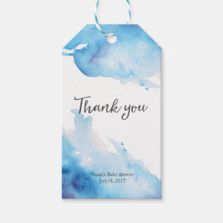 Thank you tags | Favour tags | Blue Watercolor
