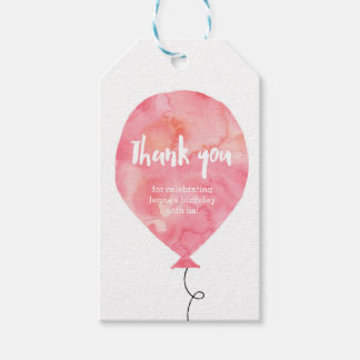 Thank you tags | Favour tags | Blush pink Balloon