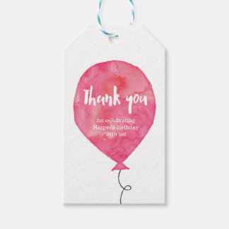Thank you tags | Favour tags | Pink Balloon