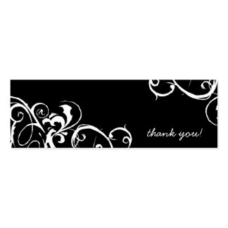 Thank You Tags Pack Of Skinny Business Cards