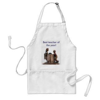 thank you teacher adult apron