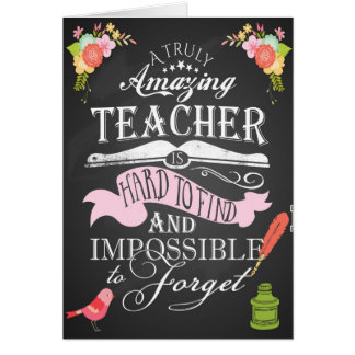 Thank you teacher card appreciation week
