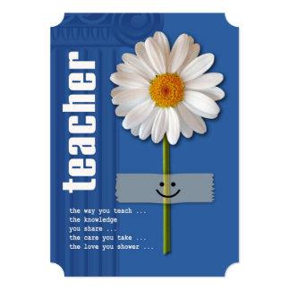 Thank You, Teacher. Customizable Flat Cards 13 Cm X 18 Cm Invitation Card