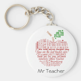 Thank you teacher gift key ring