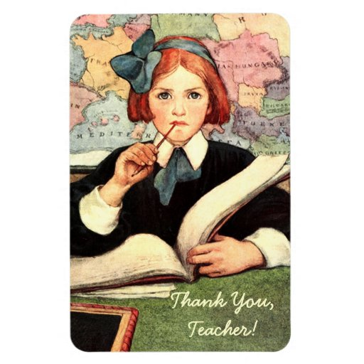 Thank You Teacher. Gift Magnet Magnets