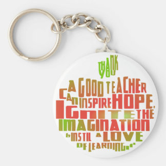 Thank You Teacher Leaving Gift Apple Quote Keyring