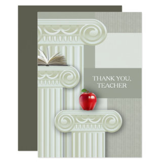 Thank You, Teacher. Personalized Flat Cards